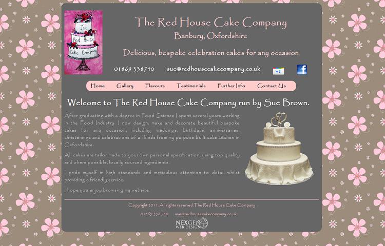 Cake Maker Web Design