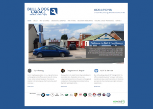 car garage website design