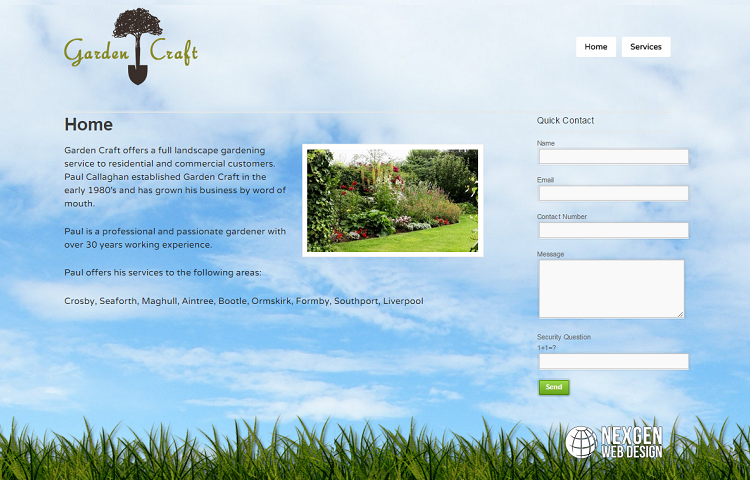 Landscape Gardner Website