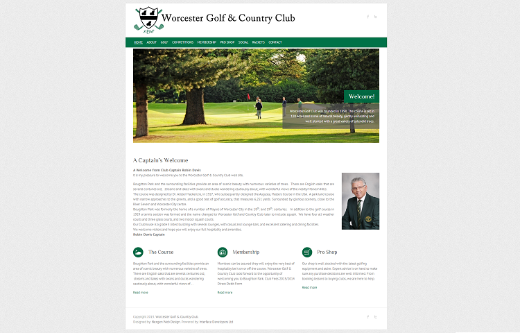 Golf Club Web Designer