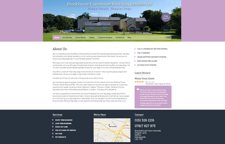 Dog kennels website nexgen web design for Dog boarding website