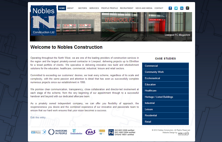 Construction Website