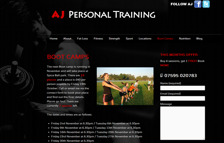 Personal Trainer Website u2013 Nexgen Web Design