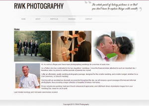 photography website designer