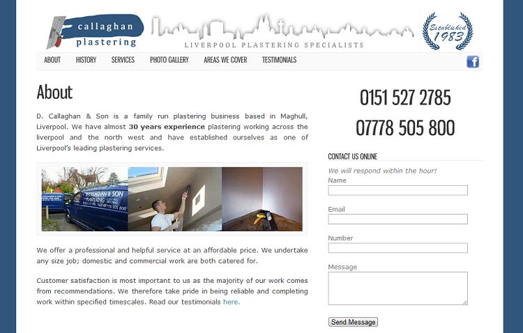 plastering web design