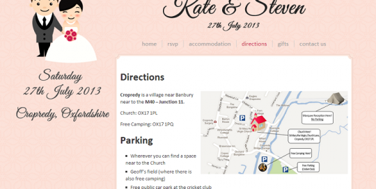 private wedding website