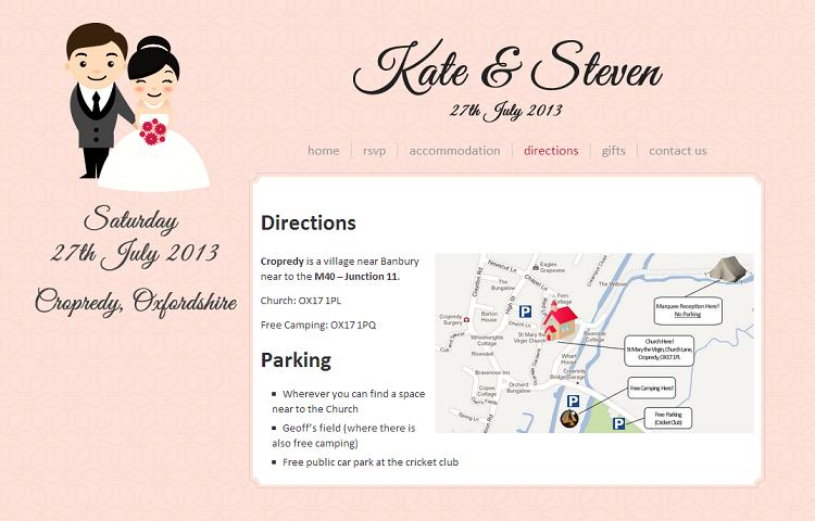 private wedding website