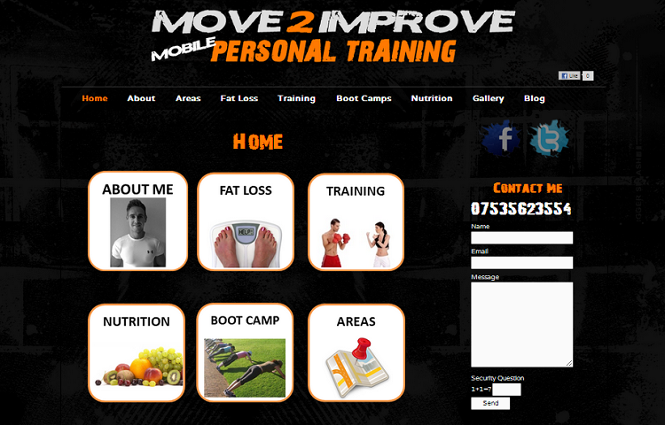 Personal Trainer Website