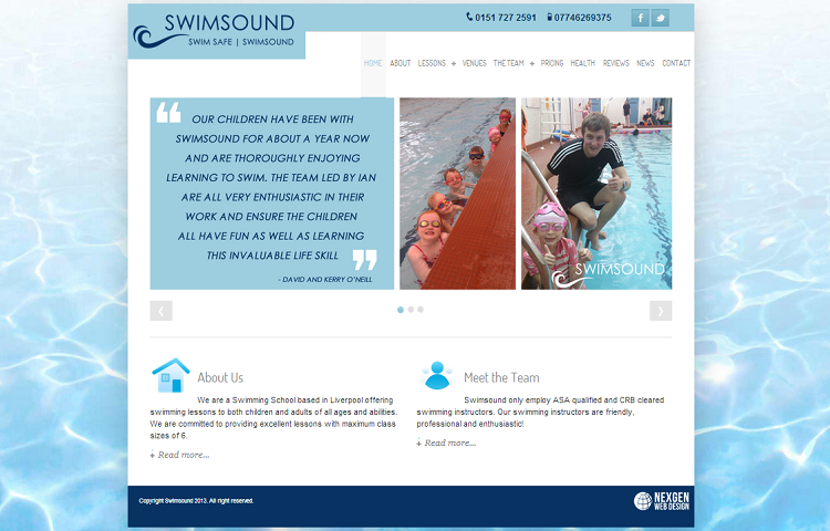 Swimming Website