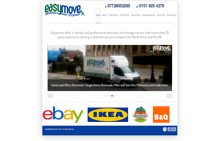 Removals Website Design